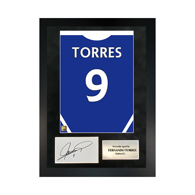 £109.99 • Buy Authentic Hand-signed A3 Frame Fernando Torres Chelsea 11/12 Shirt Poster W/ COA