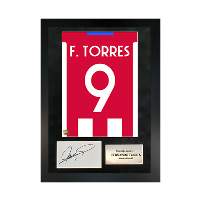 £109.99 • Buy Authentic Hand-signed A3 Frame Fernando Torres Madrid Shirt Poster W/COA