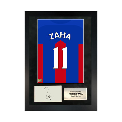 Authentic Hand-signed A3 Frame Wilfried Zaha Crystal Palace Shirt Poster W/COA • 94.99£