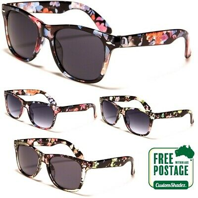 AU12.95 • Buy Women's Retro Sunglasses - Floral Printed Clear Frame - Free Shipping Aus UV 400