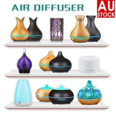 AU21.99 • Buy Ultrasonic Aroma Aromatherapy Diffuser Oil Electric Air Humidifier Essential LED