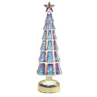 LED Glass Merry Christmas Decor Tree Table Top Party Three Decorations 36 Cm • 11.99£