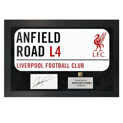 £119.99 • Buy Authentic Hand-Signed Fernando Torres Liverpool Sign A3 Frame W/ COA