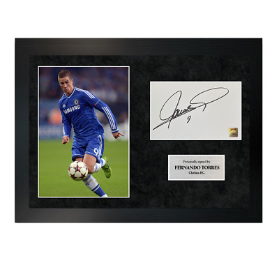 £99.99 • Buy Authentic Hand-signed Fernando Torres Chelsea A4 Single Photo Frame W/ COA