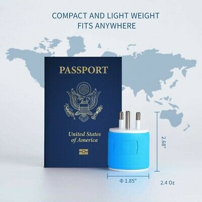 AU13.11 • Buy Thailand Travel Plug Adapter By Orei With Dual USB - USA Input + Surge Protect