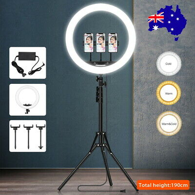 AU16.99 • Buy 10-19  Phone Selfie LED Ring Light Tripod Stand Youtube Makeup Video Live Remote