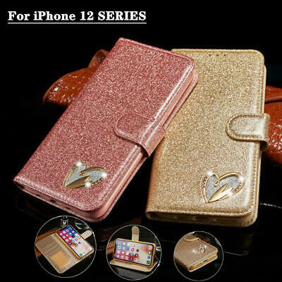AU14.99 • Buy For IPhone 12/Pro/Max/mimi/11/8/7 Leather Flip Bling Wallet Phone Case Cover