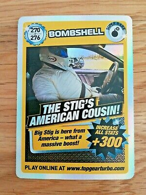 Top Gear Turbo Challenge Super Rare Card 270 Bombshell Stig's American Cousin!  • 6.50£