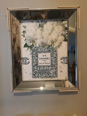 CRYSTAL Frame SILVER  LIQUID ART MIRROR PICTURE FRAME PICTURE  10 X12  Floating  • 21.50£