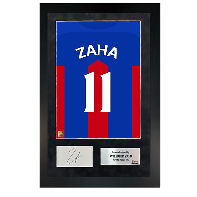 £139.99 • Buy Authentic Hand-Signed Premium Framed Wilfried Zaha Palace Shirt Poster W/ COA