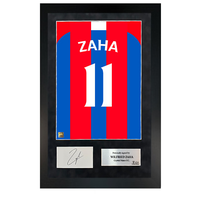 Authentic Hand-Signed Premium Framed Wilfried Zaha Palace Shirt Poster W/ COA • 129.99£