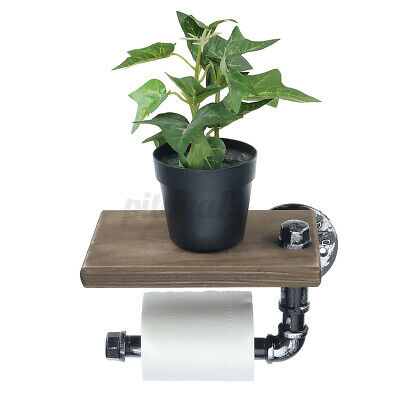 AU21.42 • Buy Wall Mounted Toilet Roll Tissue Holder Stand Bath Paper Holder Phone Shelf