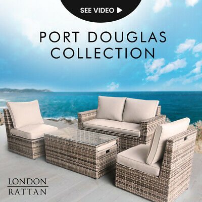 AU899 • Buy 【EXTRA15%OFF】LONDON RATTAN Outdoor Furniture 6pc Setting Chairs Lounge Set