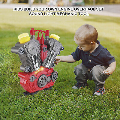£17.99 • Buy Kids 20pcs Build Your Own Engine Overhaul Set Sound Light Mechanic Tool Xmas Toy
