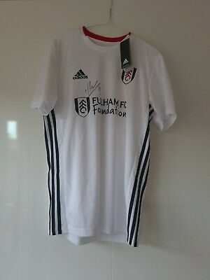 Fulham FC Home Shirt Signed By Aleksandar Mitrovic | M | Perfect Condition • 150£