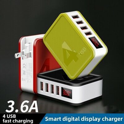 AU15.58 • Buy AU_ KQ_ 48W 2/4 USB Ports Digital Display Folding Plug QC4.0 Wall Charger Adapte