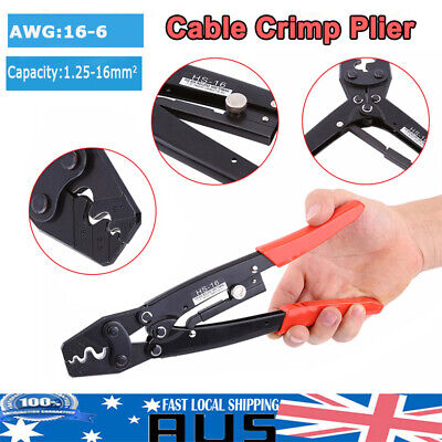 AU23.85 • Buy 1.25-16mm² Cable Battery Lug Anderson Plug Crimping Crimper Tool Bare Terminal