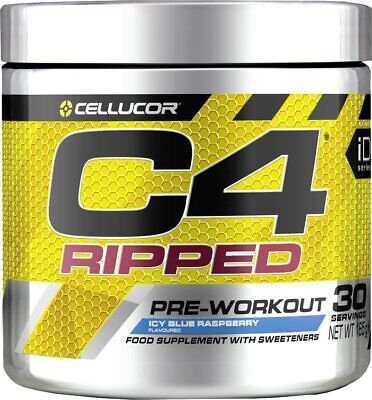 AU81.34 • Buy C4 Ripped Pre Workout Powder ICY Blue Raspberry | Preworkout Energy Drink