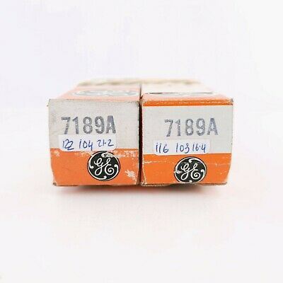 AU154.29 • Buy 2 X 7189a Tube. Ge Brand. Matched Pair. Ck #ena