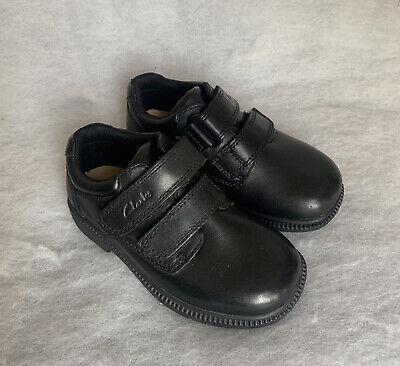 Boys Clarks School Shoe Deaton Inf Black Leather Size 8G Was £34 • 27£