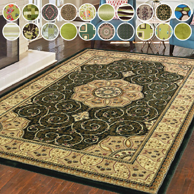 £29.99 • Buy Bravich Modern Traditional Green Shaggy Area Rug Soft Thick Carpet Floor Mat