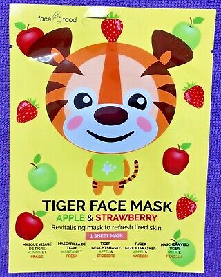 £2.90 • Buy Tiger Printed Apple Strawberry Beauty Face Mask Sheet Pamper Kids Girl Gift Cute