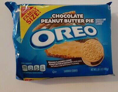 Oreo Chocolate Peanut Butter Pie Sandwich Cookies, 1 - 17 Oz Family Size Pack • 7.45£
