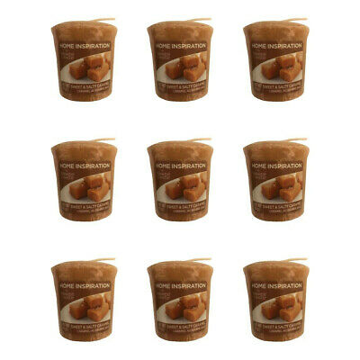 20 X YANKEE CANDLE HOME INSPIRATION SWEET & SALTY CARAMEL VOTIVE SAMPLERS 49g • 19.99£