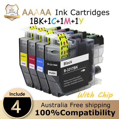 AU20.89 • Buy 4X LC3317 LC-3317 Compatible Ink For Brother MFC-J5330dw MFC-J6530DW LC3319XL