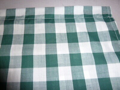 £12.50 • Buy Bottle Green And White 1  Gingham Check Single Cupboard Curtain 35   X  42