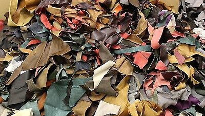 £25 • Buy 10KG Bag Of Mixed Colours Quality Leather Arts & Crafts,Off Cuts,Scrap,Remnants