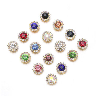 Hat Accessories Rhinestone Crystal Glass Stone Clothes Decoration Buttons • 1.96£