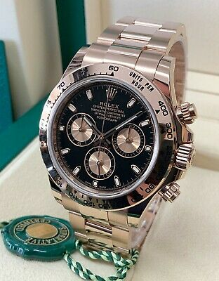 $ CDN61620.76 • Buy Rolex Daytona Rose Gold 116505 Black Dial 40mm 2020 With Papers UNWORN