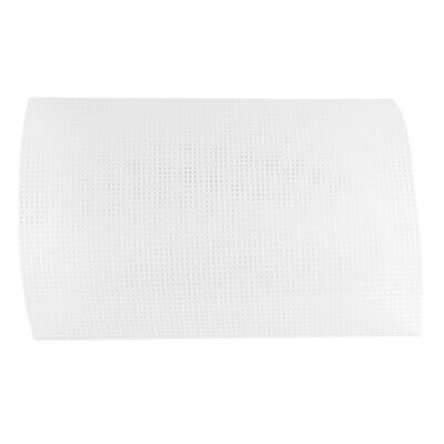 12 Sheets Knit /& Sew 10 X 13 Plastic Canvas Perforated White Sheet for Knitting