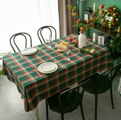 Gingham Cotton Check Table Cloth Cover Xmas Decoration • 9.96£