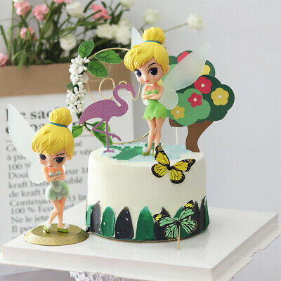 1× Disney Princess Tinker Bell Fairy Figure Figurine Cake Doll Toy Ornament 17cm • 5.78£