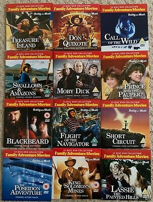 Daily Mail Family Adventure Movies (full12 Dvd Set) • 6.99£