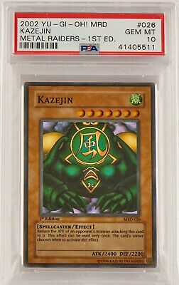 Yu-Gi-Oh! 1st Edition - Kazejin - Super Rare - Metal Raiders - PSA 10 - 41405511 • 250£