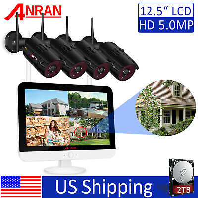 ANRAN 5MP Home Security Camera System Wireless Outdoor WIFI IR Night Vision 2TB • 247.44£