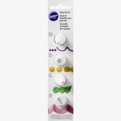 £4.99 • Buy Wilton Icing Tip Set Of 4 Nozzles