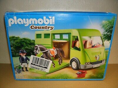 PLAYMOBIL COUNTRY HORSE BOX TRUCK Complete 6928 (Farm Lorry) • 24.99£