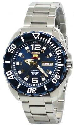 $ CDN227.07 • Buy Seiko 5 Sports Automatic SRPB37 Blue Dial Stainless Steel Men's Watch