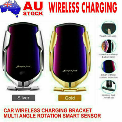 AU13.98 • Buy Car Qi Wireless Charger Mount Phone Holder Rack Automatic Clamping Smart Sensor