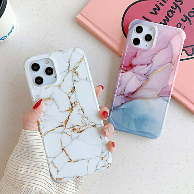 AU12.25 • Buy Marble Shockproof Case For IPhone 12 Pro Max Mini 11 Pro X XR 8 7 Soft TPU Cover