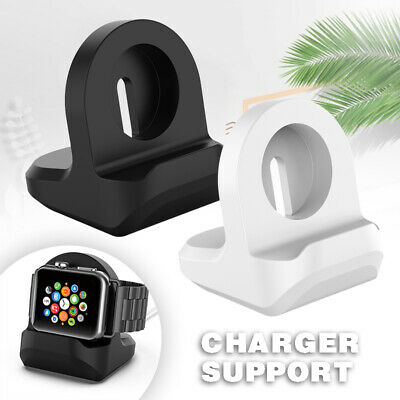 Silicone Charging Station Stand Dock For Apple Watch IWatch Series 1/2/3/4 UK • 4.99£