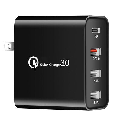 AU15.99 • Buy 4 Port USB QC3.0 Wall Charger Adapter 48W Fast Charging Phone Station Dock Plug