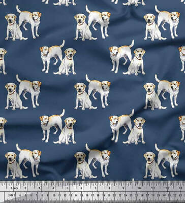Soimoi Cotton Poplin Fabric Labrador Dog Print Sewing Fabric Metre-PhN • 9.50£