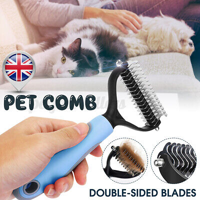 Professional Pet Dog Cat Comb Brush Grooming Undercoat Rake Dematting Clean Tool • 5.99£