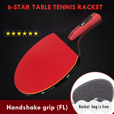 AU32.89 • Buy Professional Shakehand Longhand FL Table Tennis Ping Pong Racket Bat With Rubber