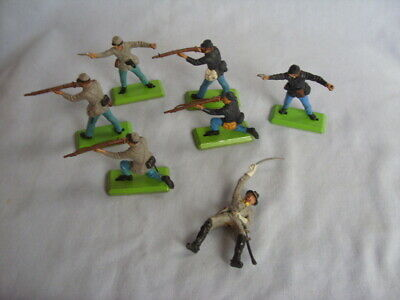 Britains Deetail American Civil War Soldiers Union & Confederate - 7 Figures • 19.95£